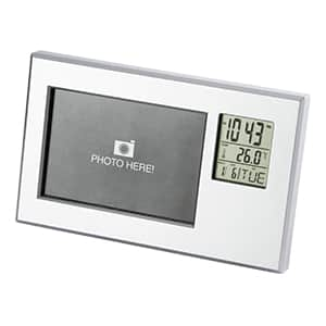 時計・温度計付きフォトフレーム