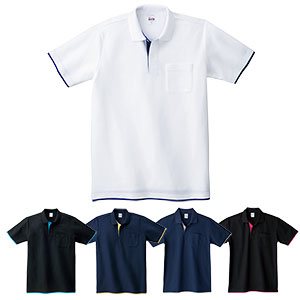 レイヤードポロシャツ