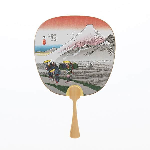 伏見上野 中型うちわ 東海道 原