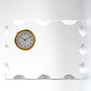 カットスクエアクロック S セイコークロック製時計付