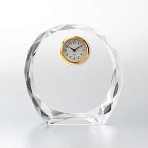 ダイヤカットアーチクロック セイコークロック製時計付