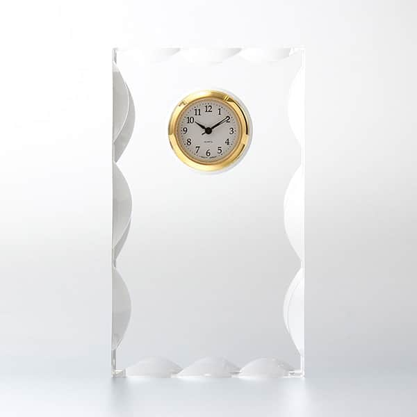 カットスクエアクロック(SS) SEIKO時計付