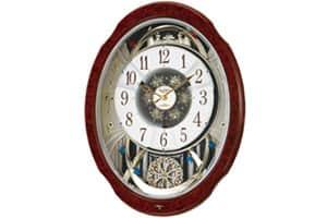 リズム からくり電波時計(メロディー付)スモールワールドブルームDX