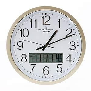 カシオ プログラム付教室用電波掛時計 IC-4100J-9JF