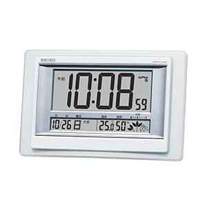 セイコークロック 快適度・温湿度表示付き電波時計 SQ432W