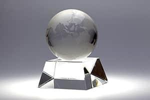 地球儀トロフィー S 彫刻20文字まで