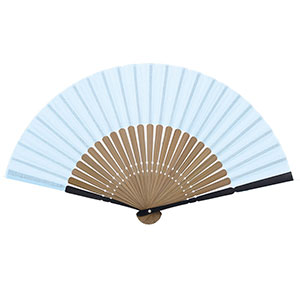 青の伝統色扇子 扇子袋付き