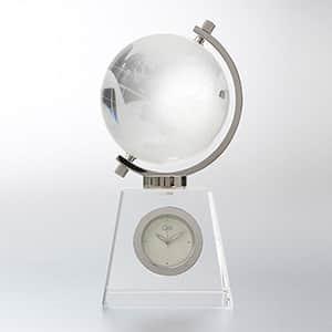 NARUMI グラスワークス 地球儀時計