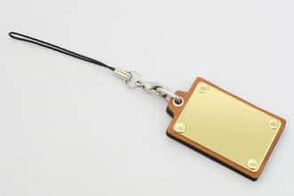革製 携帯ストラップ 1853 47×30mm
