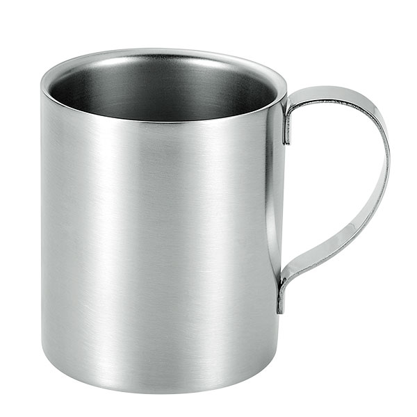 2重構造ステンレスマグカップ小 取っ手:ステン