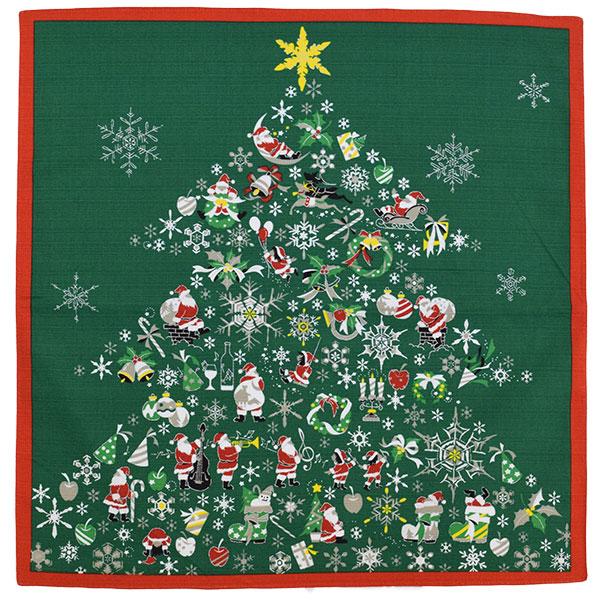 彩時記 綿中巾風呂敷 クリスマス W500×H500mm