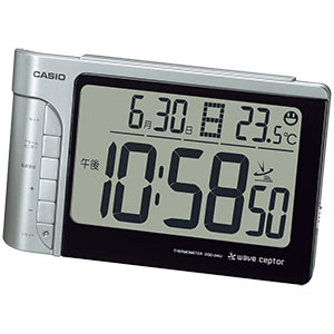 カシオ 温度計付 電波時計 DQD-240J-8JF