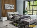 雙人造型床架(布) 045