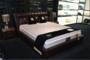 雙人造型床架(皮) 038