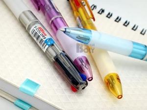 BL-B-516T 3色透明桿原子筆(0.7mm/4入)