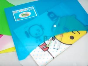 BL-A4鈕扣橫式雙袋文件袋