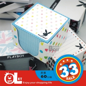 PLAYBOY 桌面便條盒