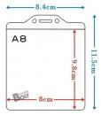 珍奇-D136 A8硬式名牌套(直.10入)