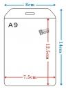 珍奇-D100 A9硬式名牌套(直.10入)