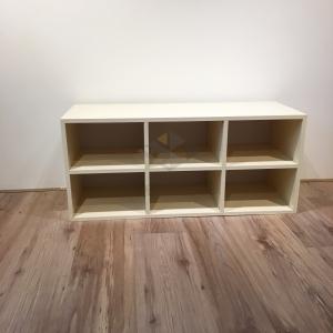 (免運費)塑鋼6格鞋櫃/開放鞋櫃