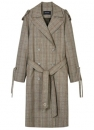 LAWRENCE STRING CHECK TRENCH COAT awa087w Check