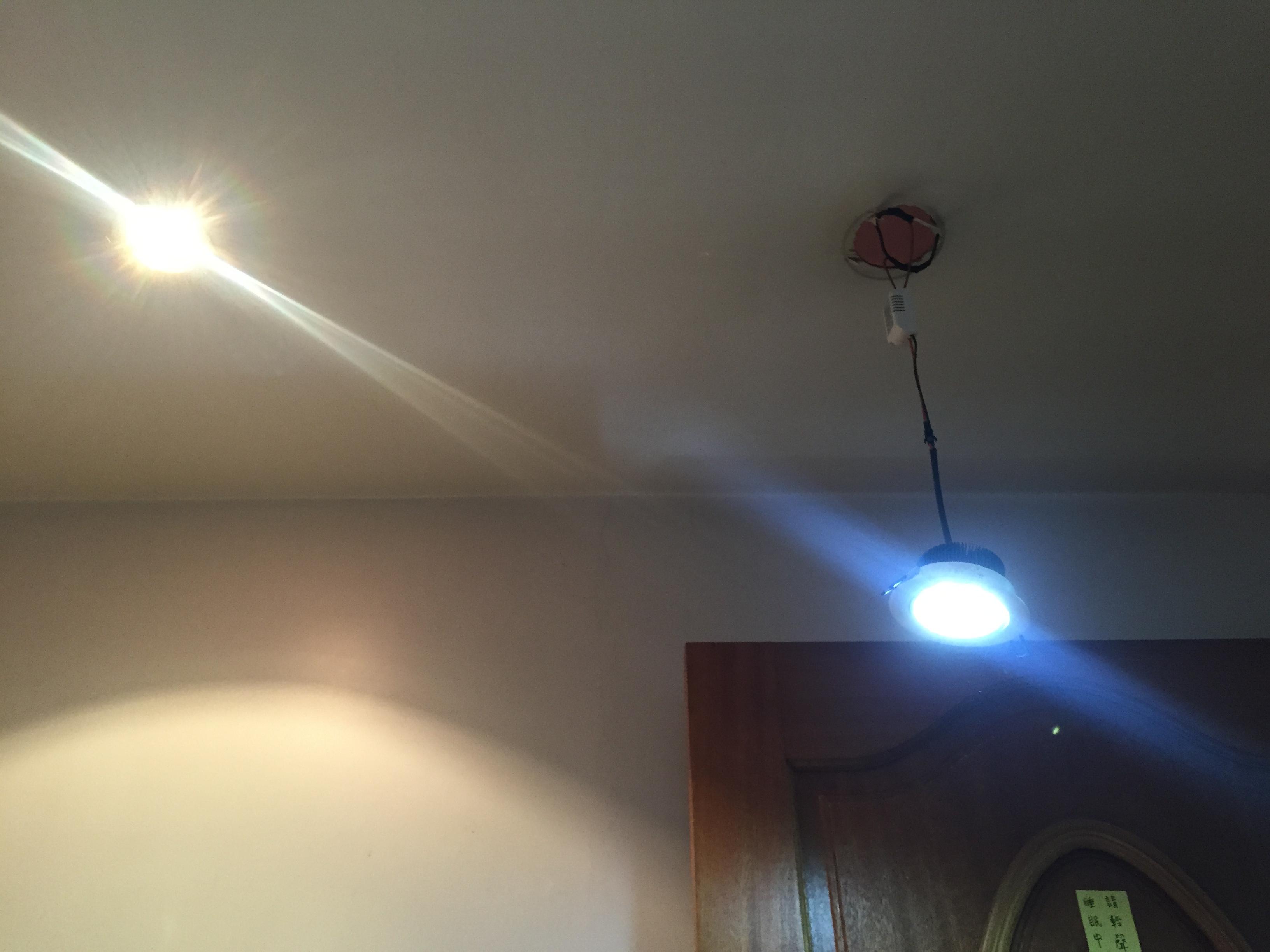 台北市大安區臥房崁燈更換LED省電崁燈 (3).JPG