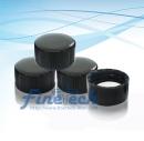 Black Close Cap with PTFE/white silicon septa-SC15D15B