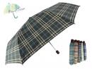 27吋手開紳士格三折傘