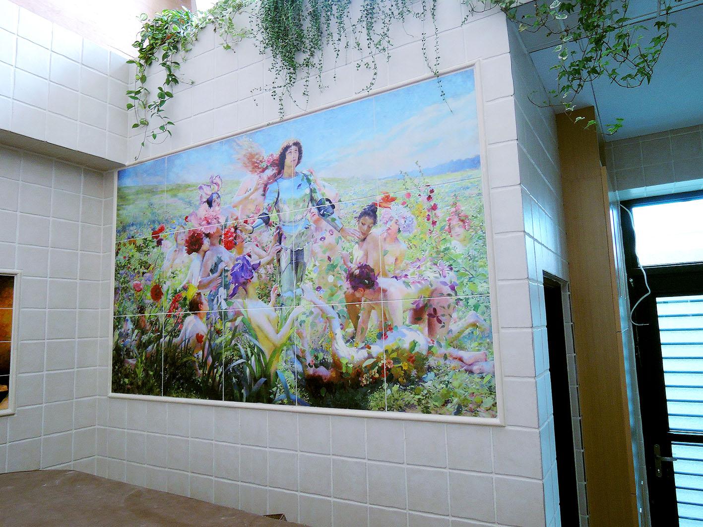 藝術家私人空間藝術牆面造景影像彩繪磁磚