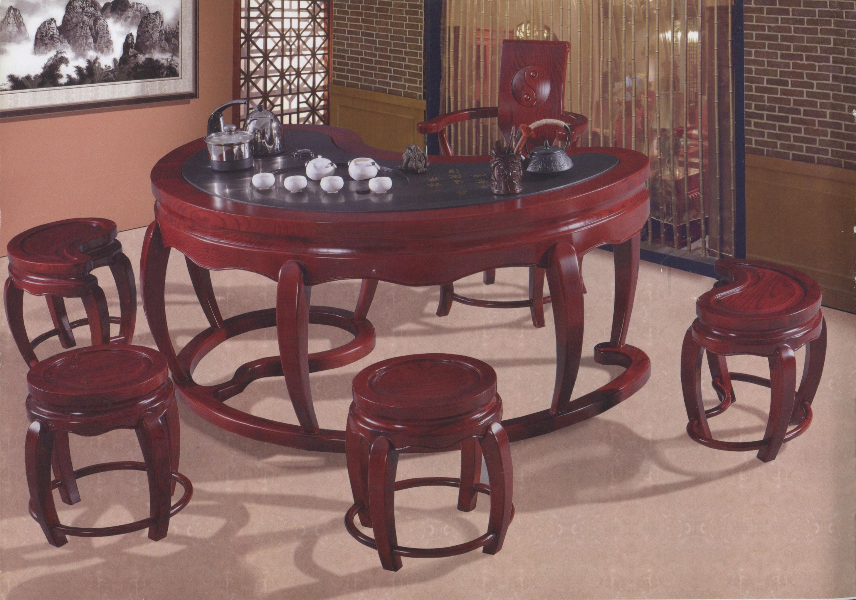 803紅檀色太極台太極主椅圓凳彎凳-1.jpg