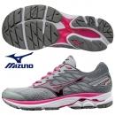 美津濃 寬楦女慢跑鞋 WAVE RIDER 20(W) 灰X粉紅 J1GD170648