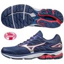 美津濃 超寬楦男慢跑鞋 WAVE RIDER 20 深藍X銀 J1GC170403