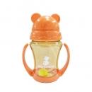 韓國 朴蜜兒 Pomier - 韓製 HAPPYLAND Tritan 防脹氣十字孔自動果汁杯-橘色-200mL