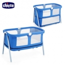 【chicco】Lullago Zip可攜式兩段嬰兒床-寧靜靛藍