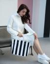 黑白條紋帆布包