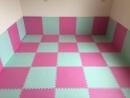 草席紋-粉紅+薄荷