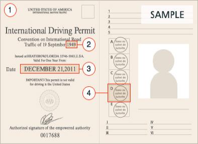 台東租車滿溢租車國際駕照範本