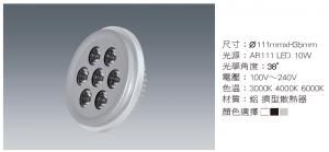 LED AR 10W NICHIA光源