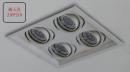 MR 細邊框盒燈/4燈白