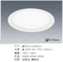 LED 21.5CM 12W 崁燈/擴散板