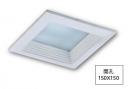 崁15*15CM LED15W 方形崁燈