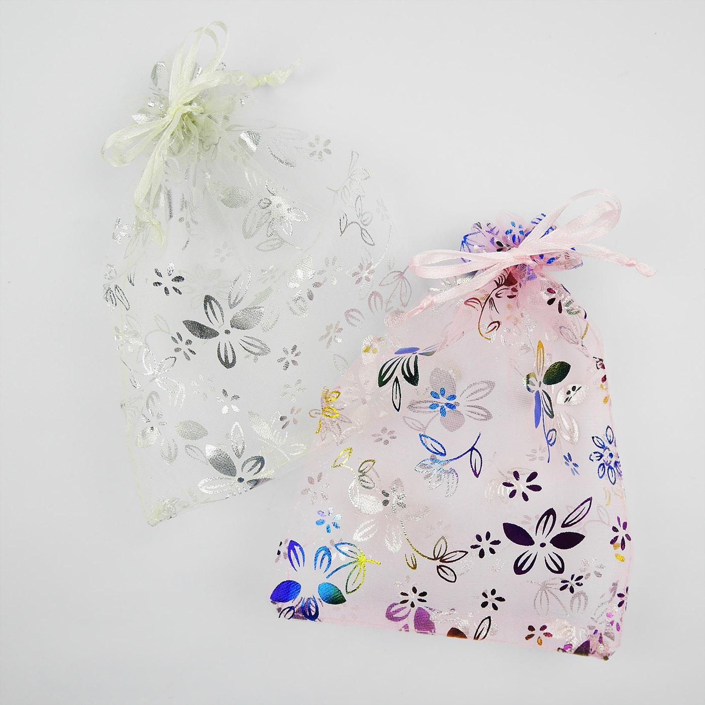 L5 炫彩小花雪紗袋