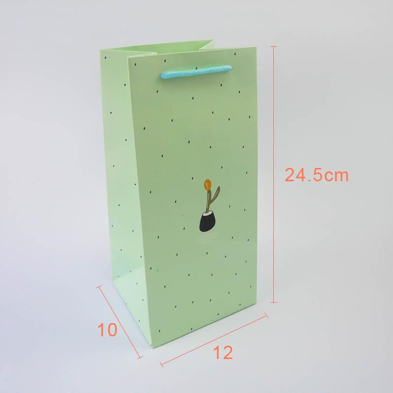《袋袋相傳》B12 棉把防水紙袋-綠色小盆栽1.jpg