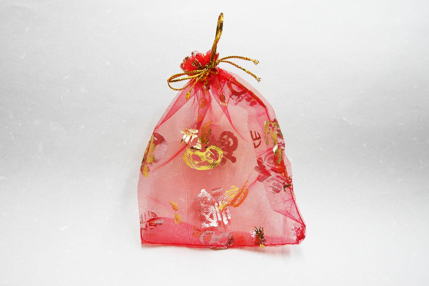 《袋袋相傳》L18 春節雪紗袋-金蔥綁帶福字雪紗袋1.jpg