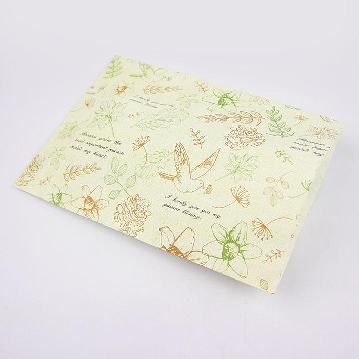 E58 祝福鳥平口紙袋