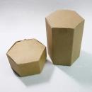 X190 牛皮紙盒-六角素牛皮紙盒