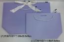 x275 粉紫緞帶提袋 -(元寶型紙袋)