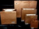 b154 古銅金大方格紋紙袋