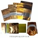 v292 金色壓紋開窗夾鏈立袋