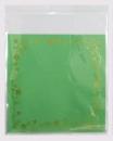 V252OPP彩色自黏糖果袋-綠底金花邊